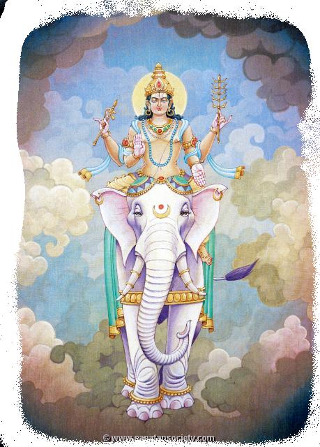 Бог Индра в индийских ведах.