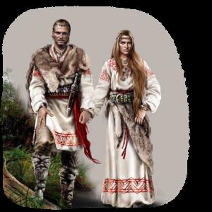 Мужчина и женщна Древнии Славяни