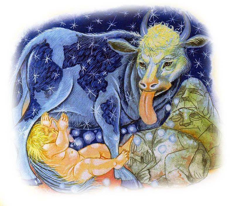 Зимун божество славян корова