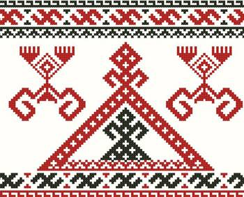 Славянский оберег Рожаница, схема вышивки