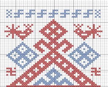 Славянский оберег Рожаница, схема вышивки-1