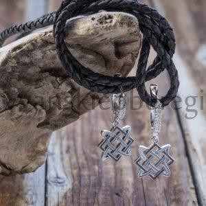 Мастерская Ярило. Серьги серебро. Оберег Звезда Лады (25)