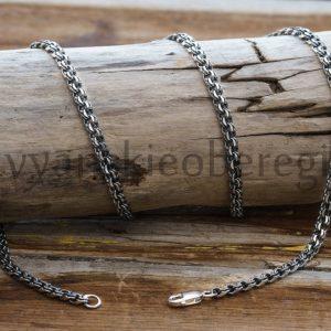 Цепь Кольчуга из серебра (кольчужного плетения)