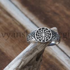 славянские обереги оберег черное солнце перстень из серебра 925