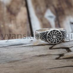 славянские обереги оберег черное солнце перстень из серебра 925,