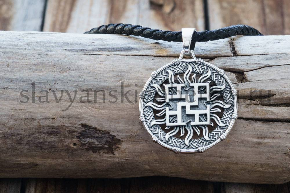 Славянский оберег Духовная сила из серебра. Мастерская Ярило (2)