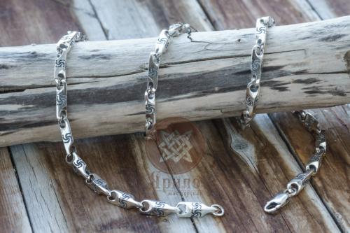 Оберег Символ Рода Цепь купить оберег из серебра купить цепь из серебра