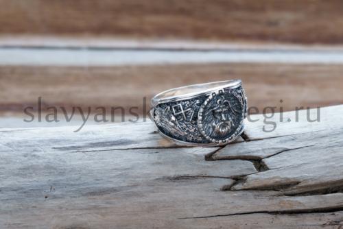 кольцо велеса с исмволоми руна одал символ велеса и печать волка печать медведя