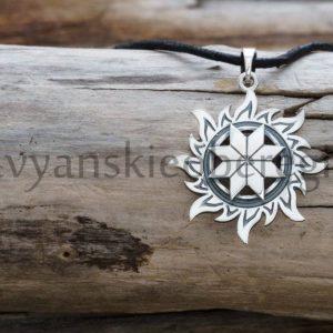 Славянские обереги и их символы Обрег алатырь из серебра 925 пробы мастерская ярило