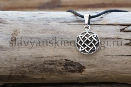 Славянский оберег Звезда лады кулон из серебра на фото оберег