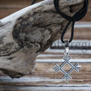 Славянский оберег Целебник кулон из серебра на фото оберег...