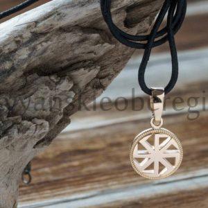 Славянский оберег коловрат из золота купить мастерская ярило (2)