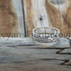 Кольцо свадебное с оберегом Свадебник Серебро. Мастерская Ярило. Славянские обереги (2)