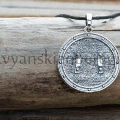 Шлем Ужаса. Серебро 925 пробы. Диаметр 29 мм. 9-10 гр. Цена 2300р (2)