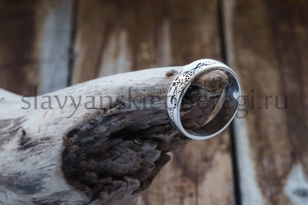 Кольцо с оберегом древо жизни. серебро 925. Мастерская Ярило (1)