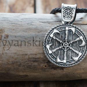 Громовик - Грозовик (Двухсторонний). Серебро 925 пробы. 29 мм. Вес 15-16 гр. Цена 3000р