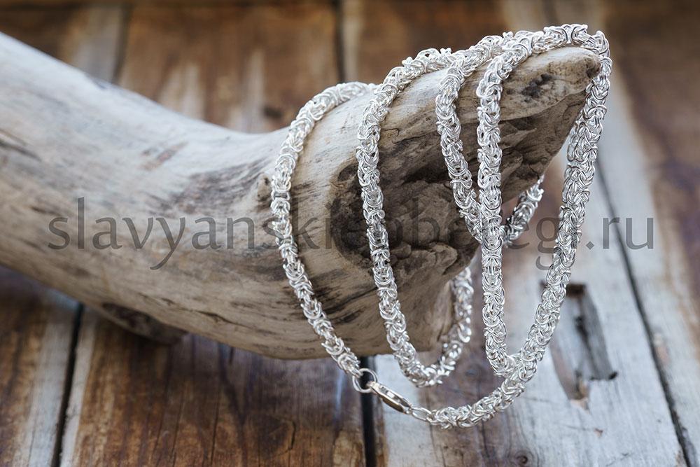Цепочка Византийское плетение. Серебро 925, 3.5 мм ширина. Вес около 25 гр. Длина 55-60 см. Цена 3800р