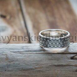 Кольцо Цветок Жизни. Серебро 925 пробы. Вес 5-6 гр. Зависит от размера. Ширина 7 мм. Размеры 16, 17, 18, 19. Цена 1800 руб