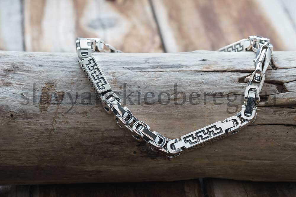 "Браслет ""Перун"". Серебро 925, 4 мм ширина. Вес около 32 гр. Длина 20-21-22 см. Цена 5500р"