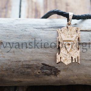 """Славянский Оберег """"Символ Велеса на Древе. Золото 585 пробы. Вес около 8 гр. Высота 25 мм, Ширина 14 мм Цена: 22400 руб."""
