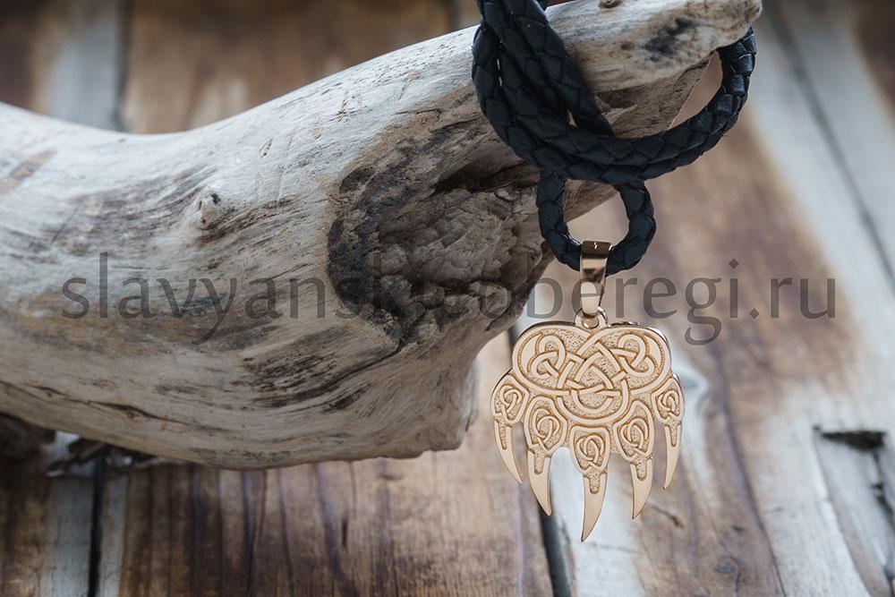 """Кулон """"Печать Велеса медвежья лапа"""" 21000 руб. Золото 585 пробы. Высота 28 мм. 22 мм ширина. Вес 7-8 гр."""