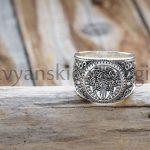 Перстень Печать Велеса. Волчья лапа Серебро