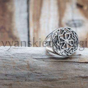 "Кольцо ""Молвинец"". Серебро 925 пробы. диаметр символа 17 мм. Вес 5-6 гр. Размеры: 16, 17, 18, 19. Цена 1800р"