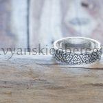 Кольцо Валькнут Серебро