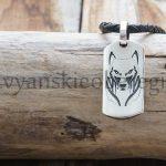 Оберег Волк С обратной стороны Руна Одал