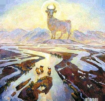 корова Зимун это небесная богородица у славянских племён. Она была сотворена Великим Родом