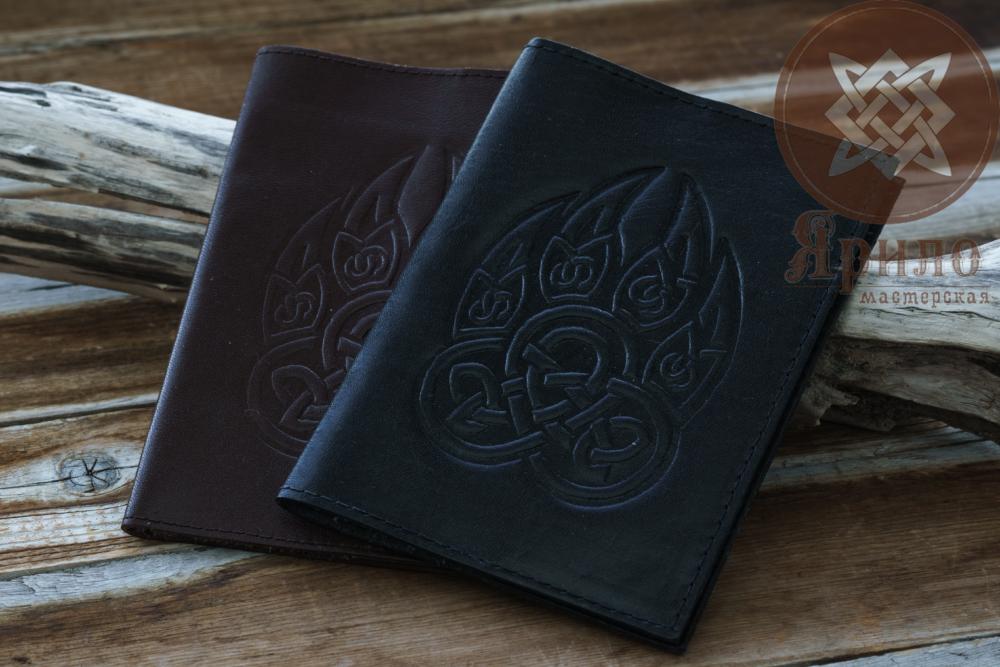 Обложка на паспорт (печать велеса волчья лапа)