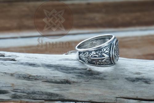 Оберег Звезда Руси перстень купить из серебра