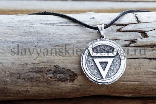 Оберег Символ Велеса. фото изделия из серебра