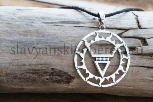 Символ Велеса. Оберег славянский. из серебра 925 пробы.