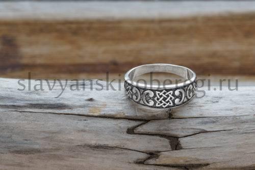 Славянский оберег Звезда лады кольцо перстень из серебра...
