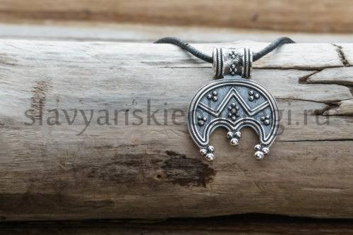Славянский оберег Лунница. Серебро 925 пробы мастерская ярило (1)