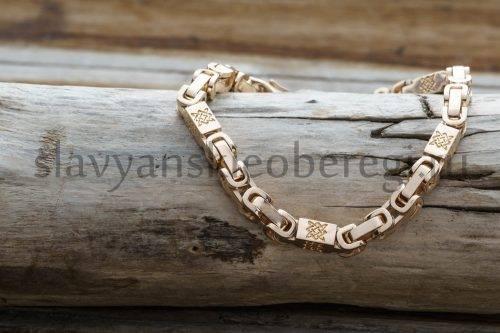 Браслет оберегжный Звезда руси из золота 585 пробы мастерская ярило (1)