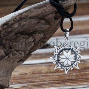 Славянские обереги и их символы Обрег алатырь из серебра 925 пробы мастерская ярило1