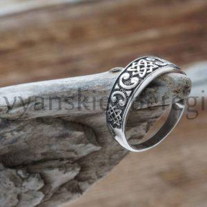 Славянский оберег Звезда лады кольцо перстень из серебра