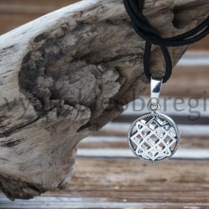 Славянский оберег Звезда лады кулон из серебра на фото оберег...