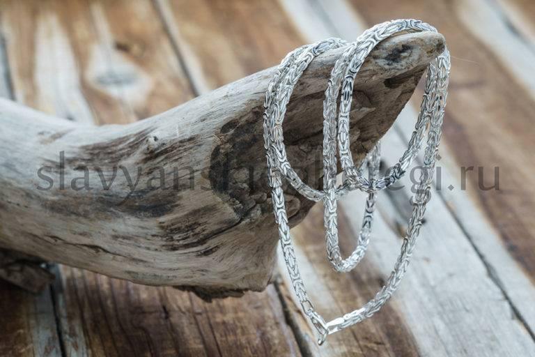 Цепочка Византийское плетение. Серебро 925 пробы. 60 см. Вес 19-21 гр. Цена 3000р (1)
