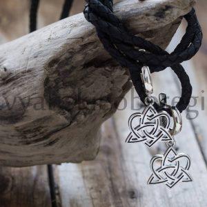 Серьги оберег Сердечный Узел из серебра. Мастерская ярило (2)