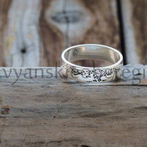 Кольцо с оберегом древо жизни. серебро 925. Мастерская Ярило (2)